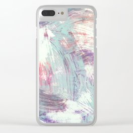 Weathered Rhythms Clear iPhone Case