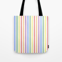 Solid Rainbow Mattress Ticking Wide Stripes Pattern Tote Bag