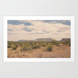 Down Desert Roads II Art Print