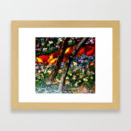 River of Wooded Flowers Framed Art Print