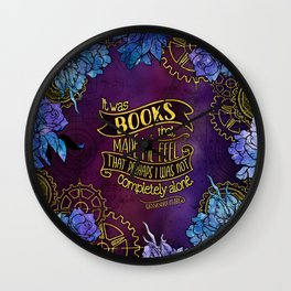 CP - Books Made Me Feel Not Alone (Purple) Wall Clock