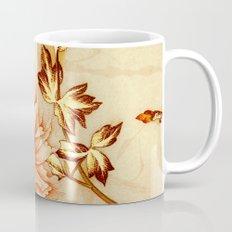 peach and golden floral Mug