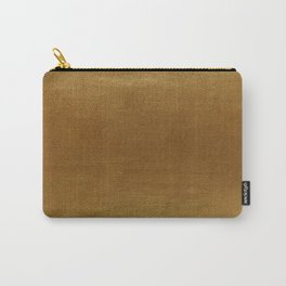 leather gold BEAUTY Carry-All Pouch