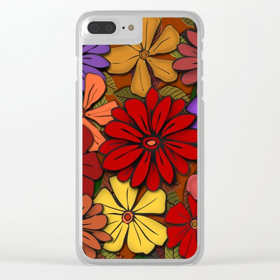 Flower Power #2 Clear iPhone Case