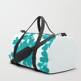Floral Teal Duffle Bag