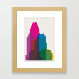 Shapes of Montreal. Accurate to scale. Framed Art Print