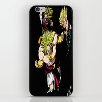 dragonball z iPhone & iPod Skins featuring Broly Dragonball Z by bernardtime