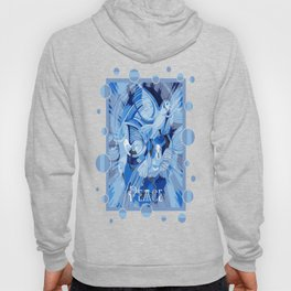 Dove With Celtic Peace Text In Blue Tones Hoody