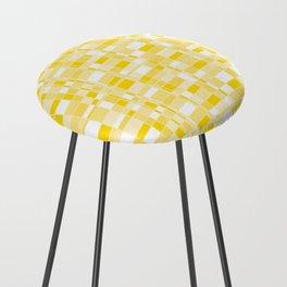 Mod Gingham - Yellow Counter Stool
