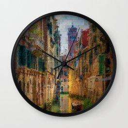Italian Graffiti - Venice Wall Clock