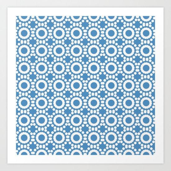 Round and Round Blue Art Print