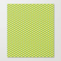 green pattern Canvas Prints featuring pattern green by colli1 3designs