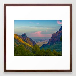 Chisos Mountain Park Big Bend Texas Framed Art Print