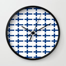 Flag of Finland 3 -finnish, Suomi, Sami,Finn,Helsinki,Tampere Wall Clock