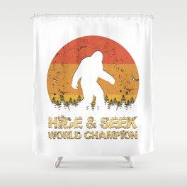 Vintage Hide And Seek World Champion Bigfoot Sasquatch Shower Curtain