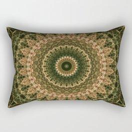 Green and golden mandala Rectangular Pillow