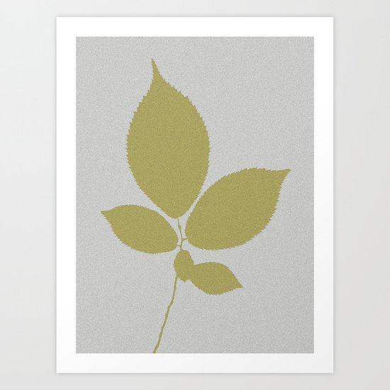 Vert et feuille d'or Art Print