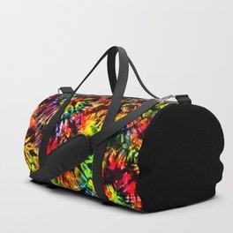 Vivid Psychedelic Hippy Tie Dye Duffle Bag