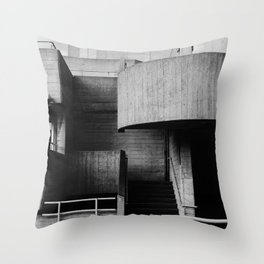 National Theatre | London |  United Kingdom by Sir Denys Lasdun Architect Throw Pillow