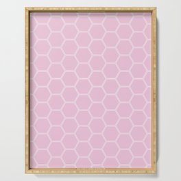 Honeycomb - Light Pink #326 Serving Tray