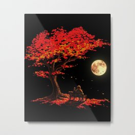 Couple in the autumn Metal Print