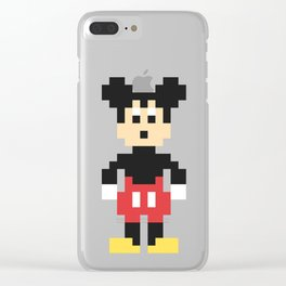Mickey Mouse Pixel Character Clear iPhone Case