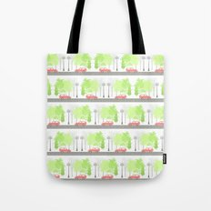 Cars and trees Tote Bag