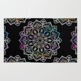 Scratchboard Mandala Rug