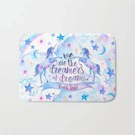 Unicorn Rainbow Quote Bath Mat
