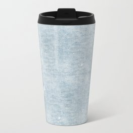 distressed chambray denim Travel Mug