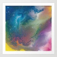 Blue Nebula Art Print
