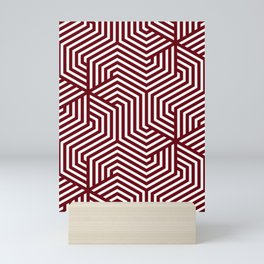 Rosewood - red - Minimal Vector Seamless Pattern Mini Art Print