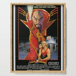 Vintage 80s Sci-Fi Movie Artwork For Prints, Posters, Tshirts, Bags, Men, Women, Kids Serving Tray
