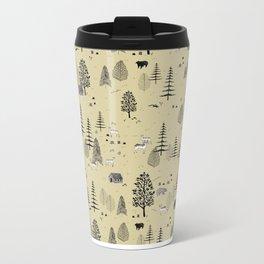Forrest Pattern Metal Travel Mug