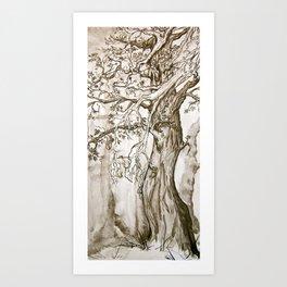 A Weary Wood Art Print