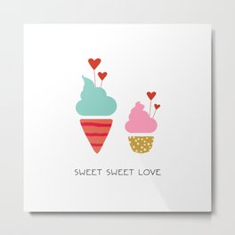 Ice Cream lovers Metal Print