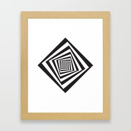 -5º / 85% downscale Rotating square Framed Art Print
