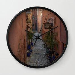 To the Riad (Marrakech) Wall Clock