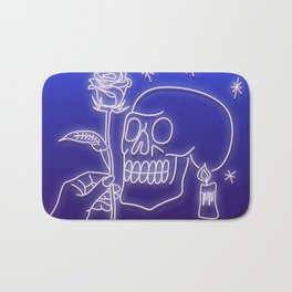 Flowers to skull Bath Mat