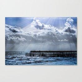 Ocean Pier Sky Canvas Print