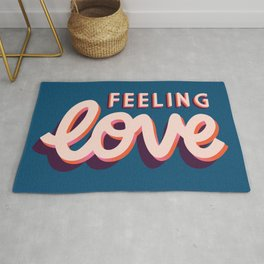 Love, Hand Lettered, Happy Valentine's Day 2 Rug