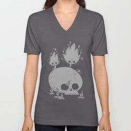 Fuegos Fatuos (grey) Unisex V-Neck