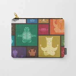 Animal Zen patchwork Carry-All Pouch