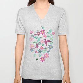 Birds and Bees Unisex V-Neck