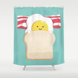 Morning Breakfast Shower Curtain