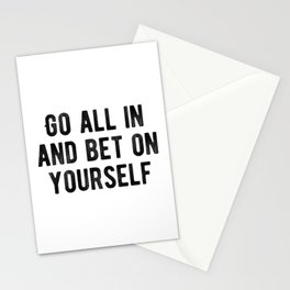 Inspiring - Bet On Your Own Abilities Quote Stationery Cards