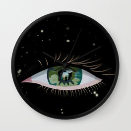 The eye of the universe Wall Clock