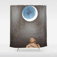 david olenick Shower Curtains featuring David by anitaa