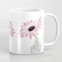 Delicate Single Pink Daisy Flower Coffee Mug