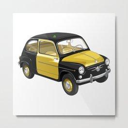 Barcelona Vintage Taxi Metal Print